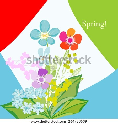 Romantic spring flower backgrounds - stock vector