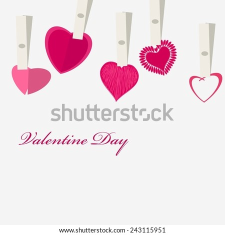 Romantic valentine  backgrounds - stock vector