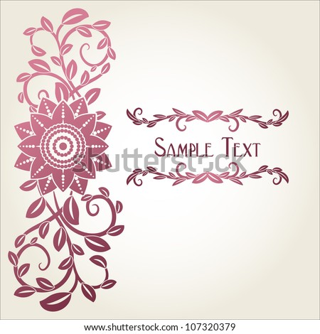 romantic vector template for greeting card