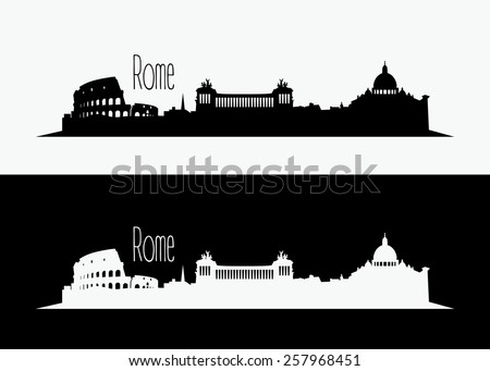 Rome skyline - vector illustration