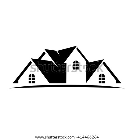 Roof Home Logo Vector House Icon Stock Vector 414466264