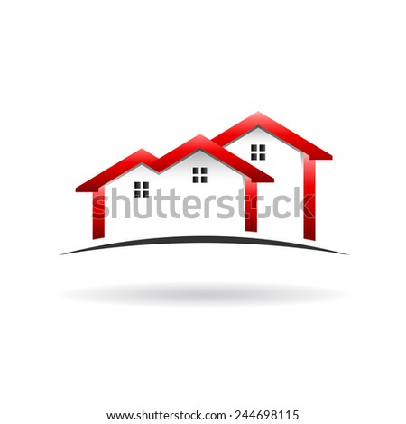 Roof  houses icon - stock vector