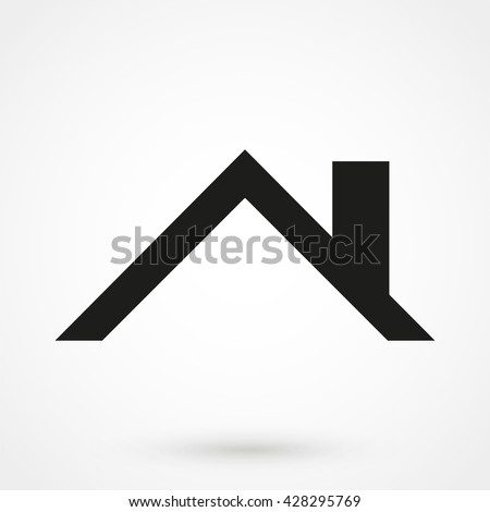 roof Icon isolated on background. Modern flat pictogram, business, marketing, internet concept. Trendy Simple vector symbol for web site design or button to mobile app. Logo illustration - stock vector
