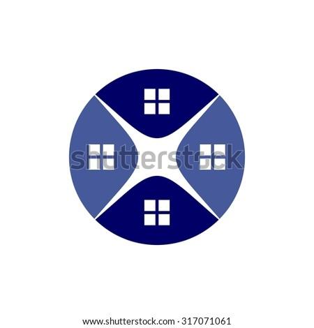 roof logo vector. realty logo. home logo. - stock vector