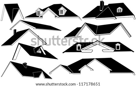 roof set isolated on white - stock vector