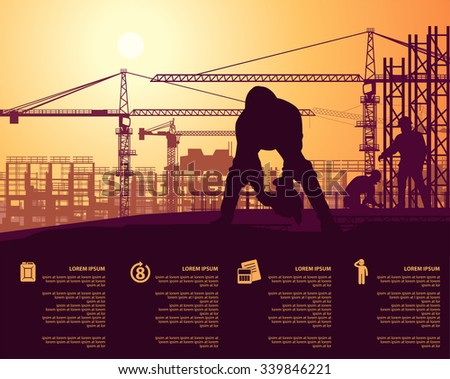 roof under construction - stock vector