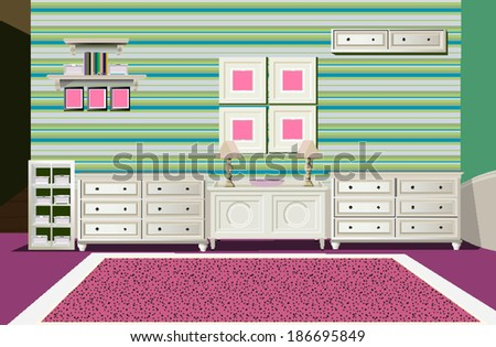 room - stock vector