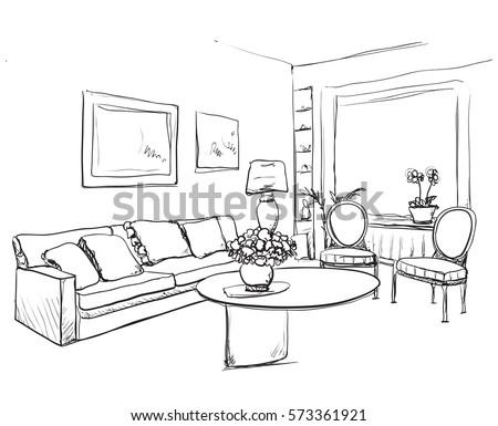 100 room sketch conference room sketch style hand for Living room outline