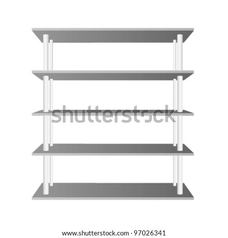 room shelve vector illustration on white background - stock vector