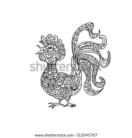 rooster coloring page - Rooster Coloring Page