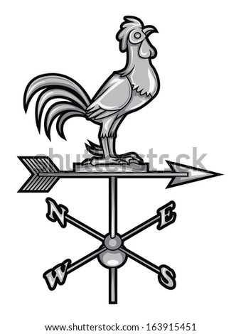 Rooster Compass Wind - stock vector
