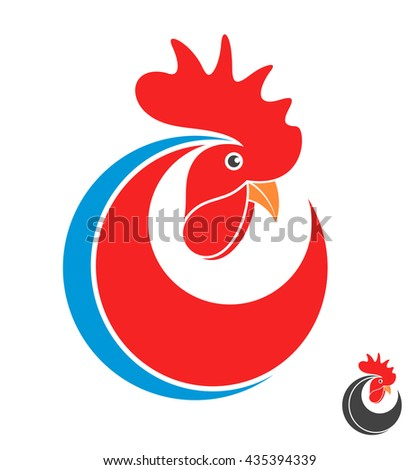 Rooster. Symbol of New Year 2017. Logo - stock vector