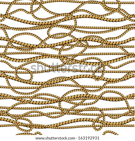 Rope Background. Seamless Pattern. Vector. - stock vector