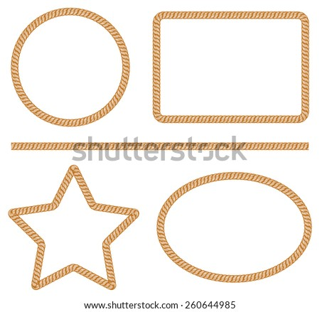 rope frame - stock vector