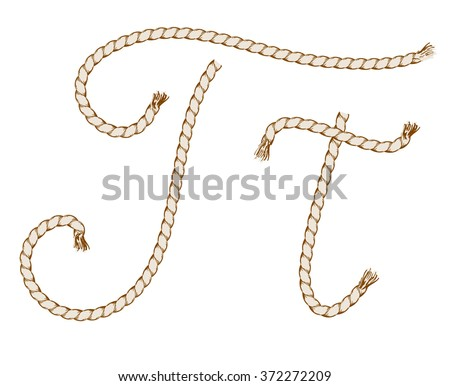 how to draw rope letters