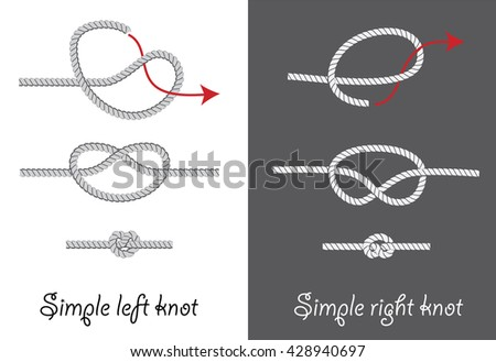Rope knots how tie simple knots stock vector 428940697 shutterstock rope knots how to tie simple knots instruction vector illustration ccuart Image collections