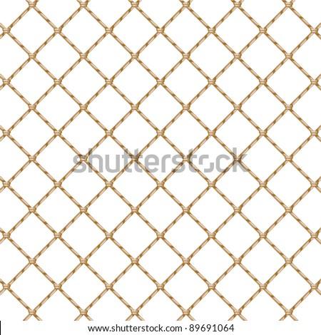 Rope net (transparent) - stock vector