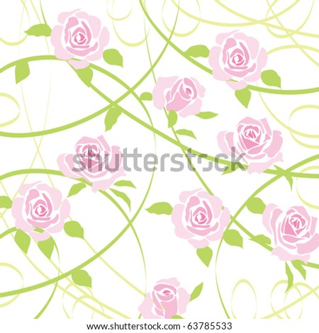 rose background - stock vector