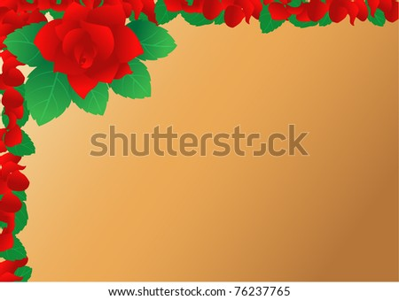 Rose background vector - stock vector