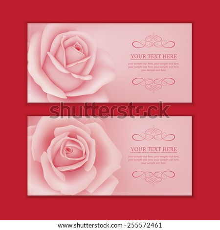 Rose banner - stock vector