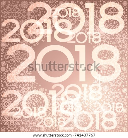 Rose Gold Christmas Vector Background New Year 2018 The File Is Saved In