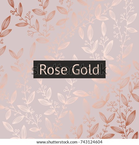 rose gold floral luxury background sales stock vector royalty free 743124604 shutterstock. Black Bedroom Furniture Sets. Home Design Ideas