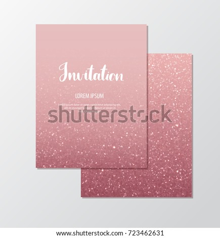 Rose gold glitter invitation template sparkles stock vector 2018 rose gold glitter invitation template with sparkles for events stopboris Images
