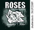 rose illustration - stock photo