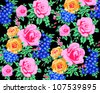 rose pattern for autumn and winter 2013  dress,especially for mandarin dress - stock vector