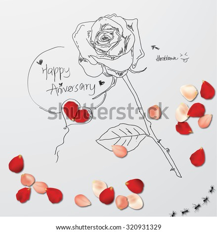 Rose Petals - stock vector