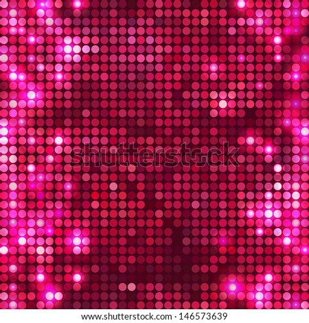 Rose vector background mosaic with light spots at left and right side - stock vector