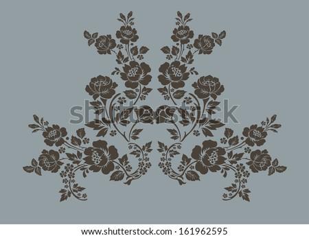 Rose vector ornamental Decorative elements design,rose bouquet - stock vector