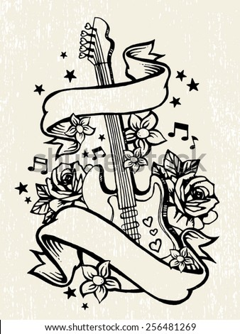 Guitar Tattoo Stock Images, Royalty-Free Images & Vectors