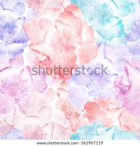 Roses Seamless Pattern, vector, colorful, vintage. EPS10. - stock vector