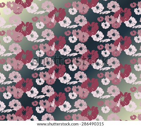 Roses Vintage seamless pattern  background. Vector