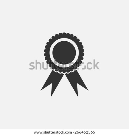 rosette icon - stock vector