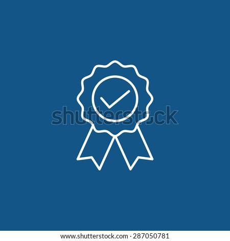 rosette icon - stock vector
