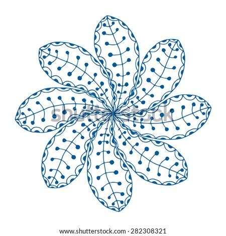 Rosette ornament. Isolated on white. Vector Illustration - stock vector
