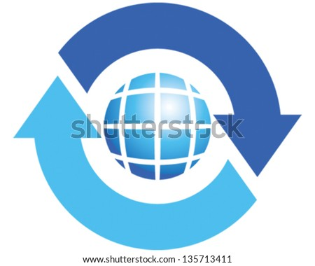 Rotate - stock vector