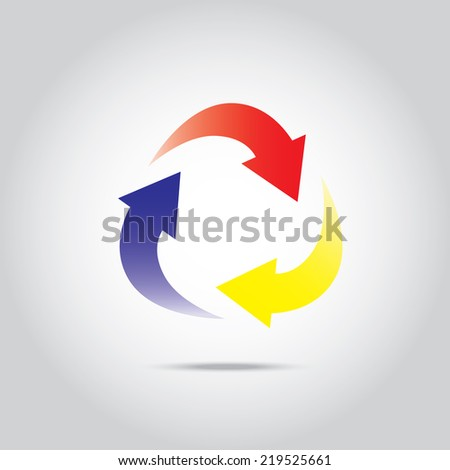 Rotate Arrow , Recycle sign - stock vector