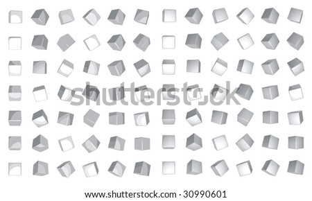 rotating cubes - stock vector