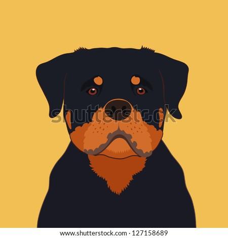 Rottweiler, The buddy dog - stock vector