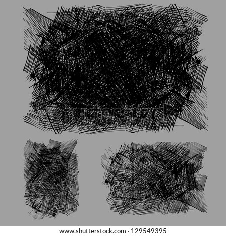 rough hatching drawing texture - stock vector