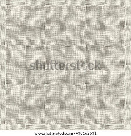 Rough patchwork fabric. Plaid background. Abstract vector. - stock vector