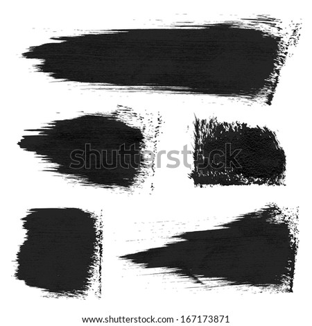 Rough prints and thick paint strokes on paper 1. Vector drawing - stock vector