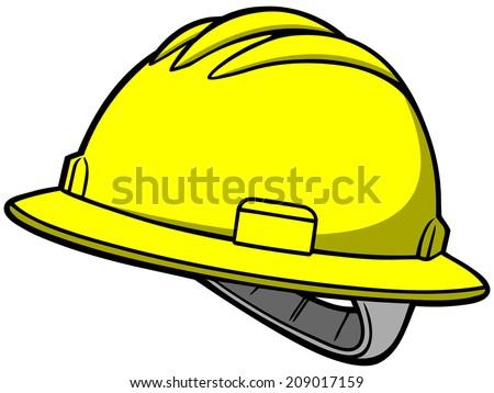 Roughneck Hard Hat - stock vector