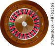 Roulette for online casino, vector EPS10 - stock photo