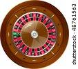 Roulette for online casino, vector EPS10 - stock photo