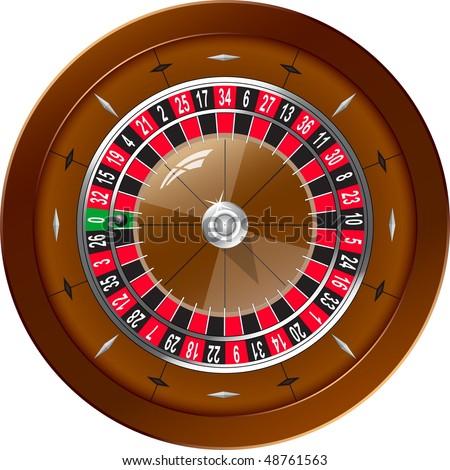 Roulette for online casino, vector EPS10 - stock vector