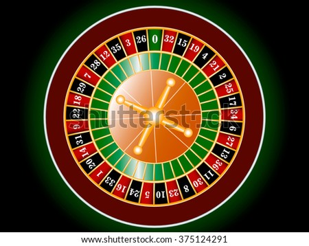 Roulette game in the casino